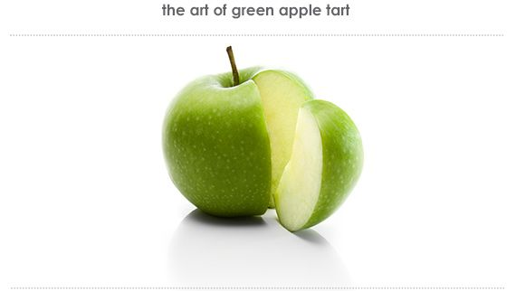 green apple tart