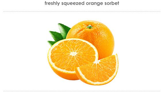 freshly squeezed orange sorbet