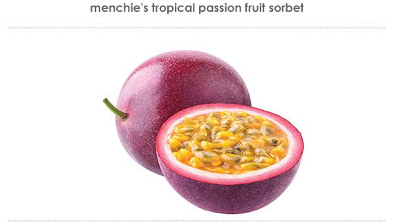 tropical passion fruit sorbet