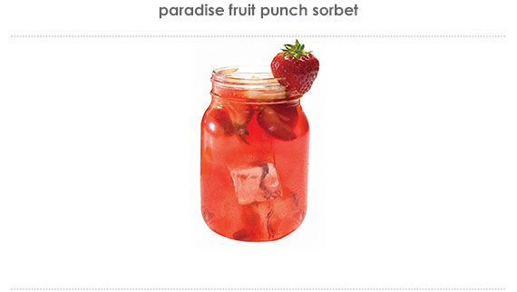 paradise fruit punch sorbet