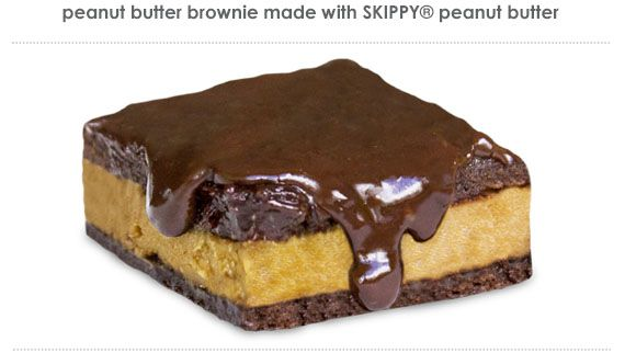 Peanut Butter Brownie made with Skippy® Peanut Butter