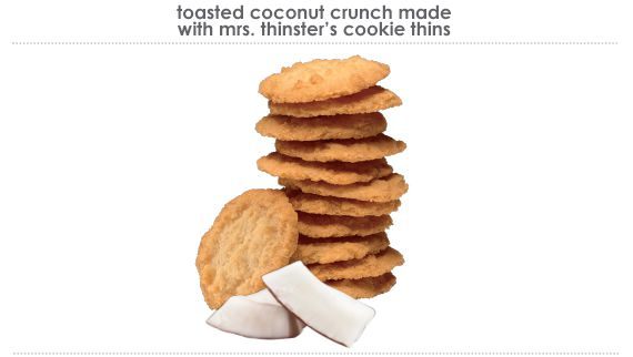toasted coconut crunch made with mrs.thinster's cookie thins