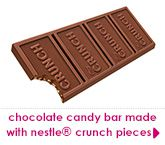 chocolate candy bar made with nestle® crunch pieces