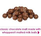 classic chocolate malt made with whoppers® malted milk balls