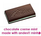 chocolate creme mint made with andes mints