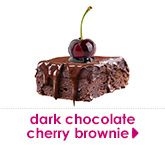 dark chocolate cherry brownie