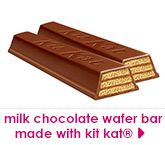 milk chocolate wafer bar made with kit kat®