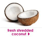 fresh shredded coconut