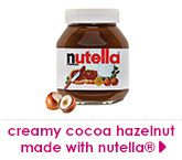 creamy cocoa hazelnut made with nutella®