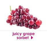juicy grape sorbet