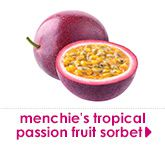 menchie's tropical passion fruit sorbet