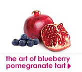 blueberry pomegranate tart