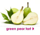 green pear tart