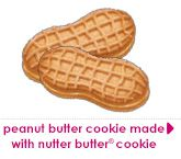 Peanut Butter Cookie made With Nutter Butter® Cookie Pieces