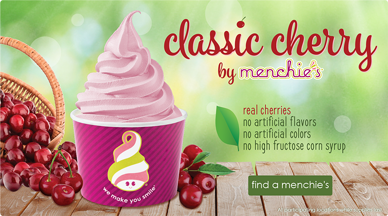 Classic Cherry by Menchies - real cherries - find a menchies