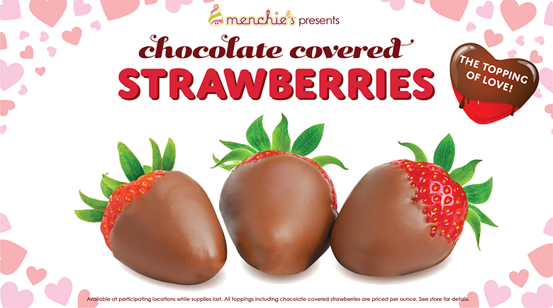 Chocolate covered stawberies - the topping of love!