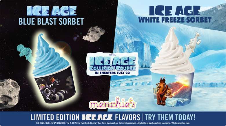 Ice Age - Blue Blast Sorbet - Ice Age - White Freeze Sorbet - Limited Edition Ice Age Flavors - Try Them Today!
