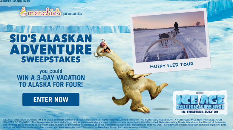 Sid's Alaskan Adventure Sweepstakes - You Could Win a 3-Day Vacation for Four! Enter Now