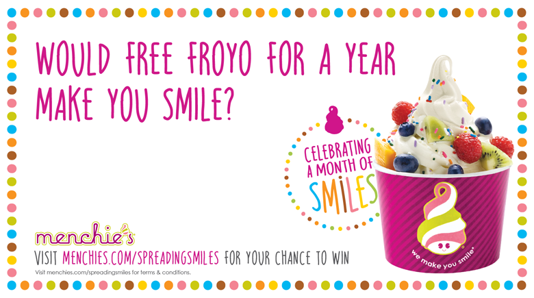 Would free froyo for a year make you smile?