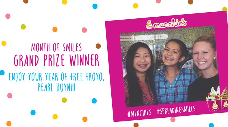 Menchie's Month of Smiles Grand Prize Winner