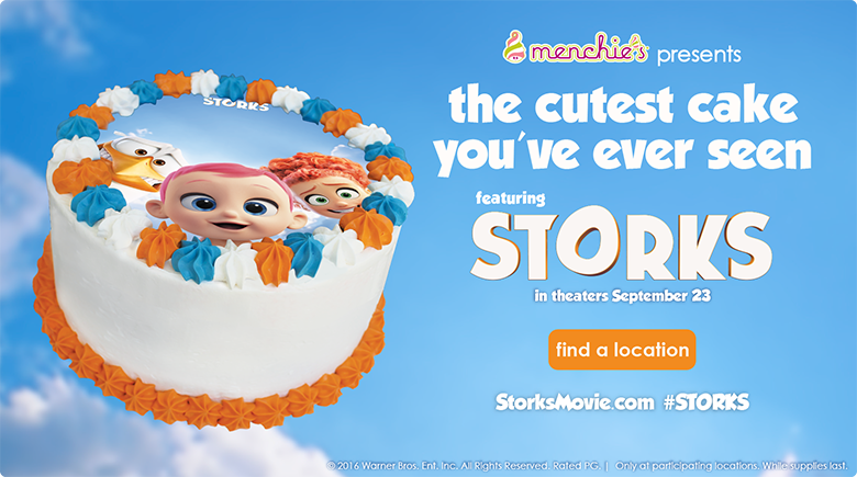 The cutest cake you've ever seen featuring STORKS in theaters September 23