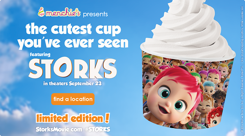 The cutest cup you've ever seen featuring STORKS in theaters September 23