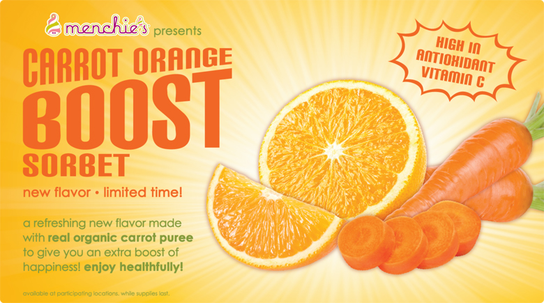 Featured Flavor - Carrot Orange Boost Sorbet