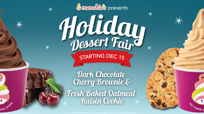 Starting December 15th - Holiday Dessert Fair