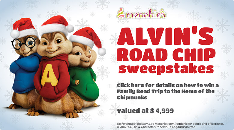 Alvin's Road Chip Sweepstakes