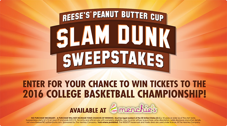 Reese's Peanut Butter Cup Slam Dunk Sweepstakes!