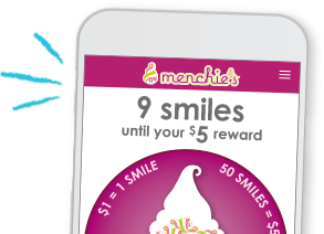 A Menchie's MySmileage card