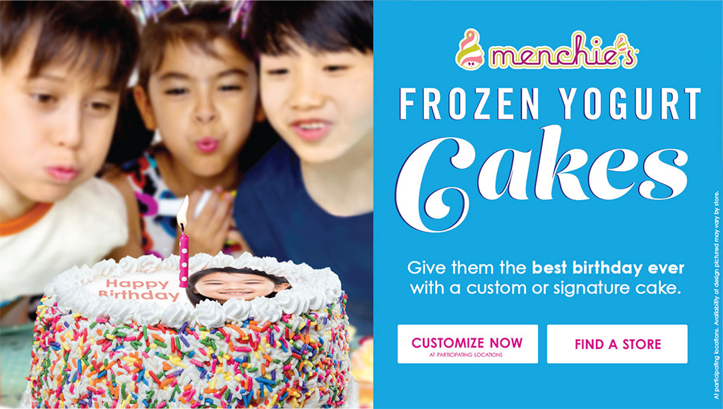 Menchie's Frozen Yogurt Cakes - Give them the best birthday ever with a custom signature cake.