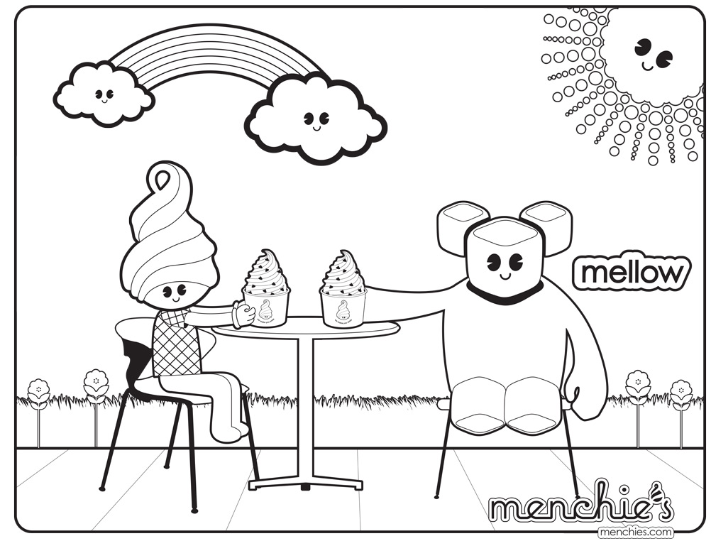 Mellow Coloring sheets