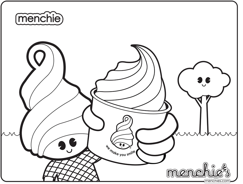 Menchie Coloring sheets
