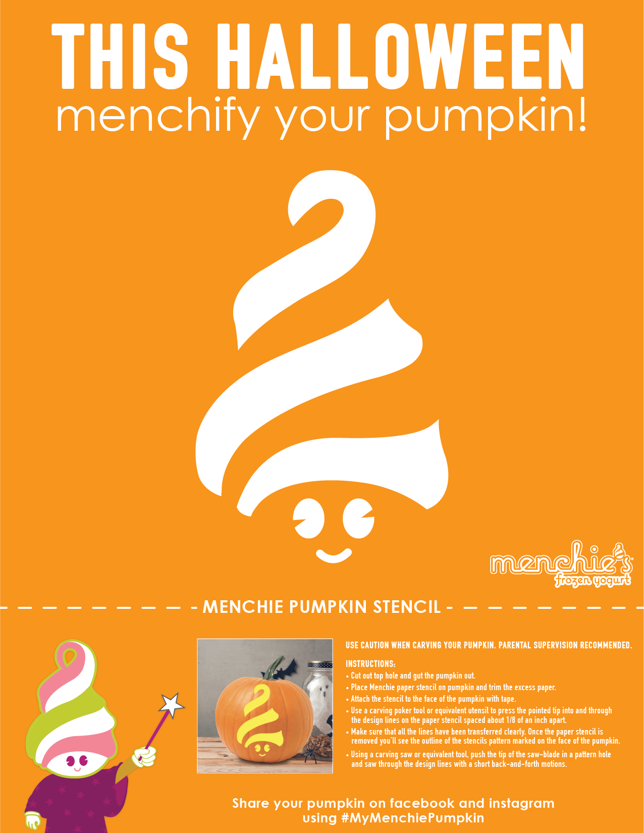 Create a Menchie pumpkin!