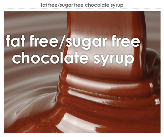 fat free/sugar free chocolate syrup