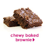 chewy baked brownie