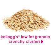 kellogg's® low fat granola crunchy clusters