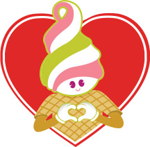 Menchie holding his hands in the shape of a heart